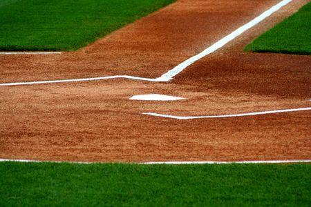 campo de beisbol: una imagen de la placa en una casa de campo de b�isbol