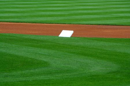 An image of Pre-game Second Base Stock Photo - 980206