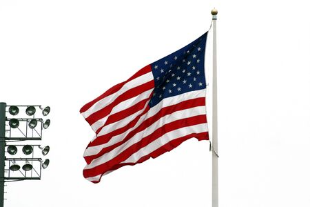 an image of the  American Flag with stadium lights Stock Photo - 980207