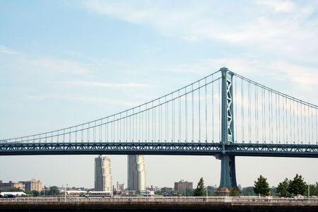 una imagen de un puente colgante Foto de archivo - 1180060