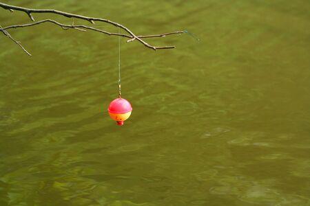 bobber: Hanging Fishing Bobber with dragonfly
