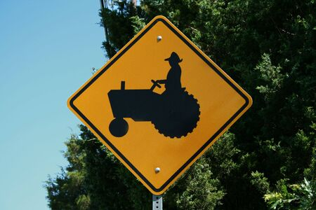 tractor sign: an image of a Tractor Sign