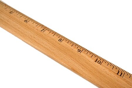 Wooden Ruler on a white background Imagens - 1583626