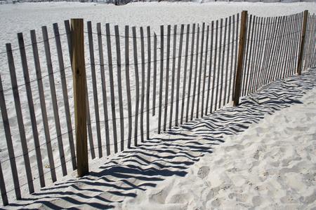 beachcomb: A wooden Fence on the beach