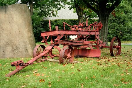 Old red Tractor Stock Photo - 1695586