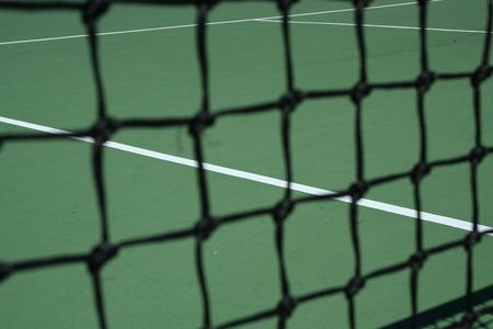 Tennis Court Net focus on the court Stock Photo - 1716673