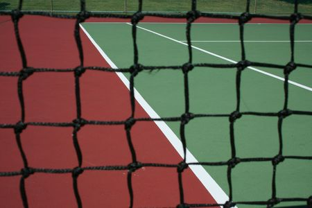 Tennis Court Net focus on the court Stock Photo - 1729753