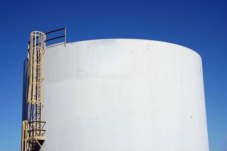 A Fuel Tank with a blue sky background Stock Photo - 1808475