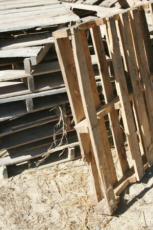 delivery room: A bunch of Stacked Wooden Pallets