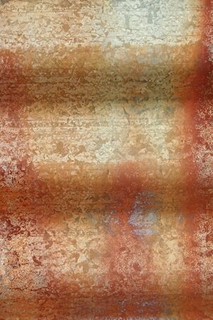 A rusty piece of Corrugated Sheet Metal grunge background photo