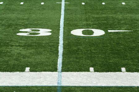 yardline: Football thirty yard marker