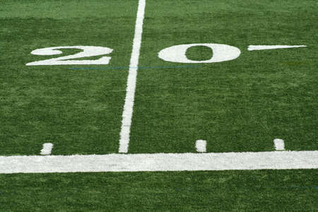 yardline: Football twenty yard marker