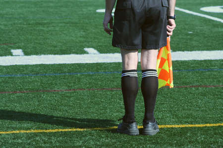 linesman: A Soccer Official line judge