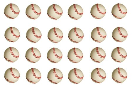 Isolated baseballs on a white background photo