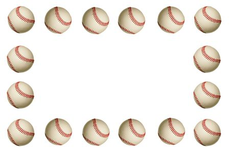 An baseball frame on a white background photo
