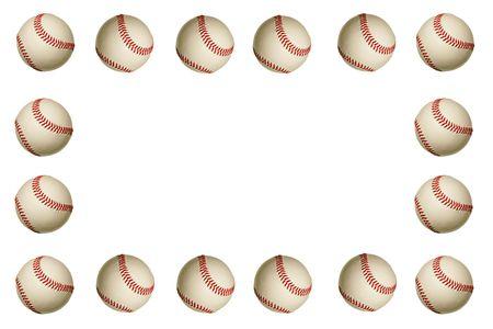 Un cadre de baseball sur un fond blanc Banque d'images - 1897133