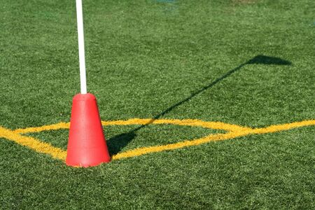 A Soccer Corner Marker Flag with shadow Stock Photo - 1897141