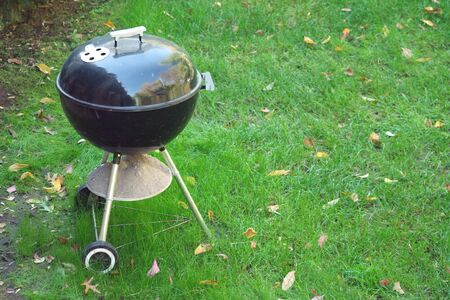 Black Barbeque grill  in the yard