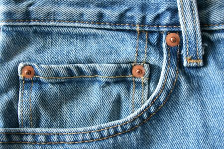 A close up of a Blue Jeans Pocket
