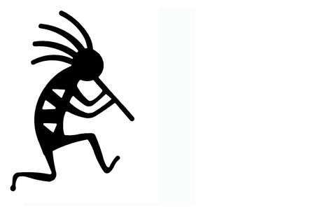 Kokopelli the seed bringer and water-sprinkler Stock Photo