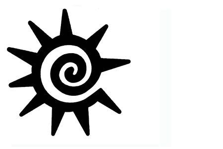 Un bianco e nero Soutwestern simbolo del sole Archivio Fotografico - 2004793