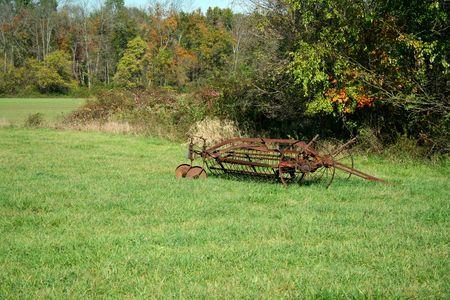 farm equipment: An old piece of farm equipment Stock Photo