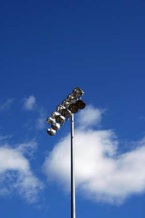 floodlit: Stadium Lights against blue sky