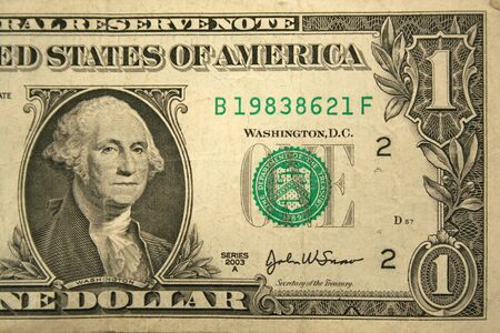 Back Half of a one dollar bill Stock Photo