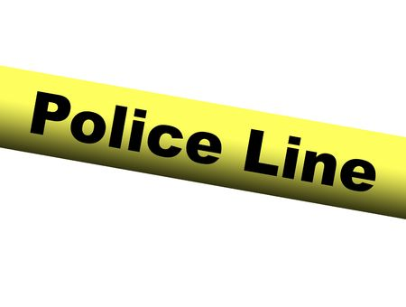 Yellow Police Line Barrier Tape Stock Photo - 2093551