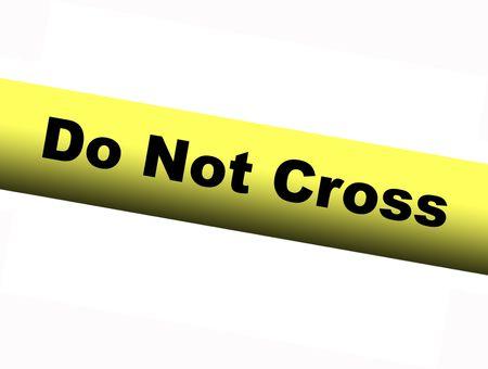 barrier: Yellow Do Not Cross Barrier Tape