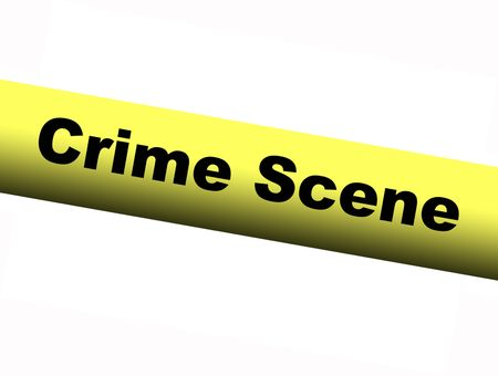 barrier: Yellow Crime Scene Barrier Tape Stock Photo