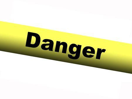 barrier: Yellow Danger Barrier Tape