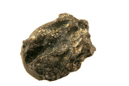 Isolated stone Meteorite macro Stock Photo