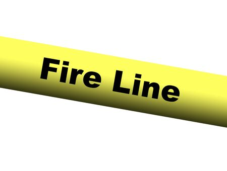 barrier: Yellow Fire Line Barrier Tape Stock Photo