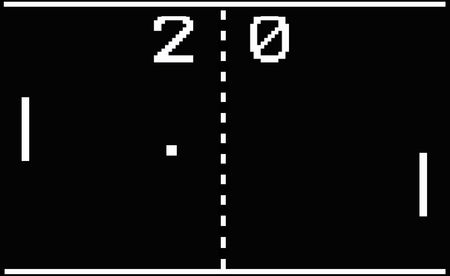 Retro Ping Pong Video Game Imagens