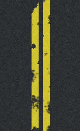 Double yellow line road background