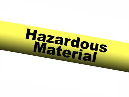 barrier: Hazardous Material Yellow Barrier Tape