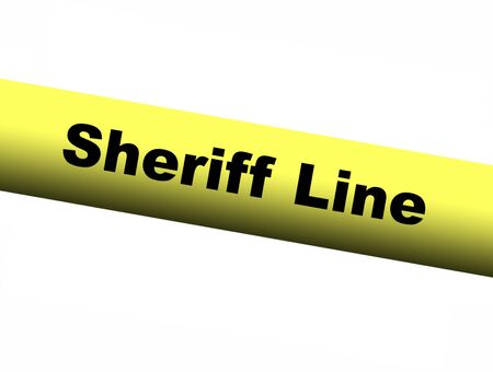 barrier: Sheriff line Yellow Barrier Tape
