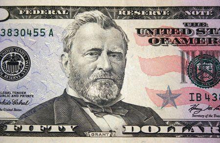 米国の 50 ドルの法案マクロ