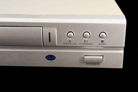 dvdr: A DVD player on black