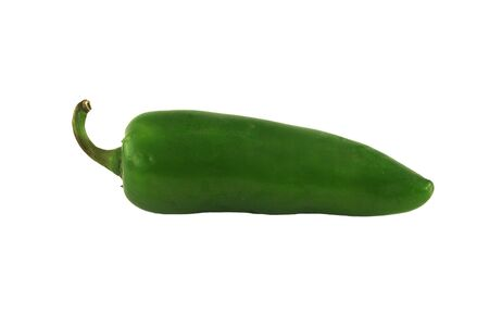 isolated green Jalapeno pepper on white