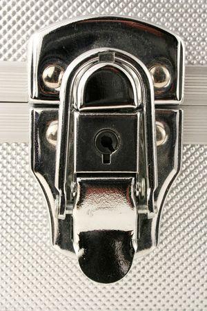 A Silver case latch macro Stock Photo