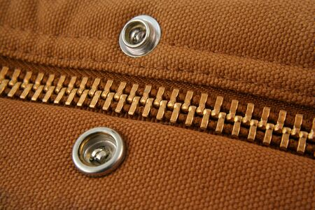 snaps: A Large gold zipper macro with snaps