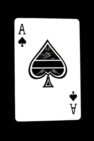 Isolated ace poker card