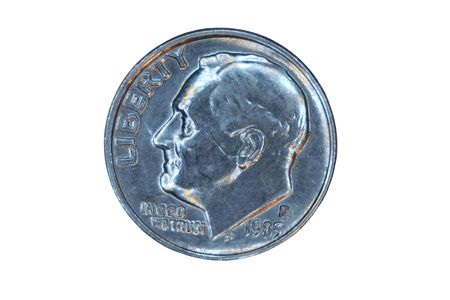 dime: A Isolated US dime front Stock Photo