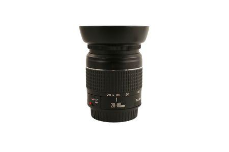 28-80 mm 白レンズをデジタル一眼レフ カメラ