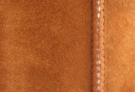 Suède brun avec couture arrière-plan Banque d'images - 2637620
