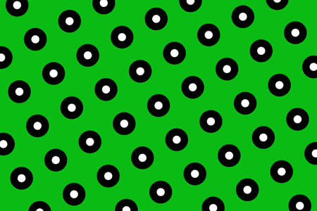 A Green polka dots abstract background