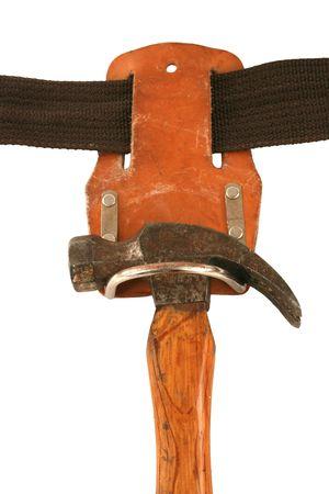 Een hamer op een instrument gordel