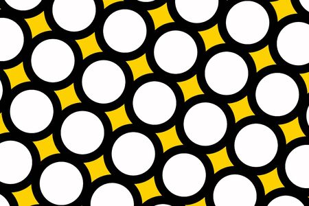 A Yellow polka dots abstract background